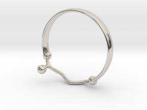 GABA ring Size 7  in Rhodium Plated Brass