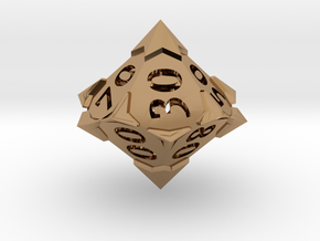 'Starry' 10D10 Die (Decader of Percentile D10) in Polished Brass