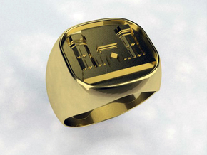 Combat Engineer Army Ring in White Natural Versatile Plastic