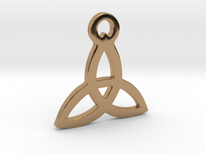 Triquetra Pendant (Triad) in Polished Brass
