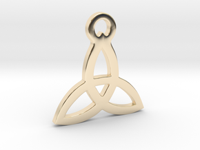 Triquetra Pendant (Triad) in 14k Gold Plated Brass