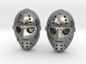 Jason Voorhees Mask lacelocks in Natural Silver