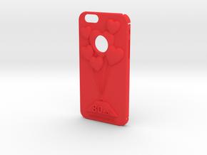 Hearts+ 80 Ton in Red Processed Versatile Plastic