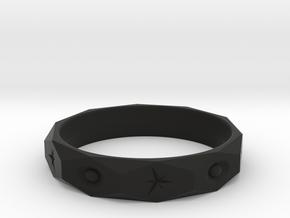 star spark ring  in Black Natural Versatile Plastic: 7 / 54