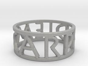 Carpe Diem Ring Size 7 in Aluminum