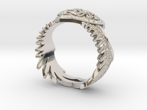 Winged Heart Ring SIZE 10 in Platinum