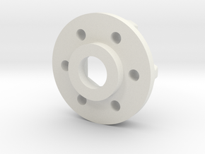 Hub Narrow in White Natural Versatile Plastic