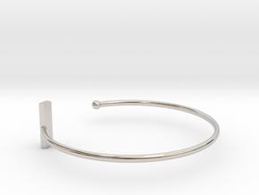 Fine Bracelet Ø 68 mm/2.677 inch R Large in Platinum
