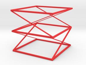 Square Bracelet in Red Processed Versatile Plastic