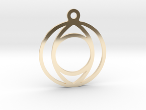 One. - Tribute to the Philosophy of Number in 14K Yellow Gold