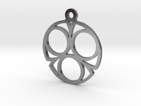 Three. - Tribute to the Philosophy of Number in Polished Silver