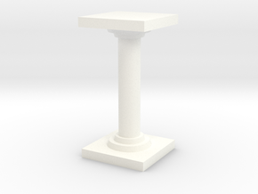 Pillar version 2 in White Processed Versatile Plastic