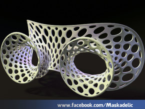 Party Mask 'Loonie Explorer' in White Natural Versatile Plastic