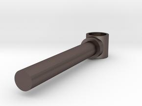 Piston rod in Polished Bronzed Silver Steel