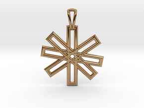 Sacred Geometry Pendant (Small) in Polished Brass