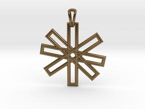 Sacred Geometry Pendant (Big) in Polished Bronze