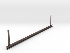 Guardrail (Leitplanke) in Polished Bronzed Silver Steel