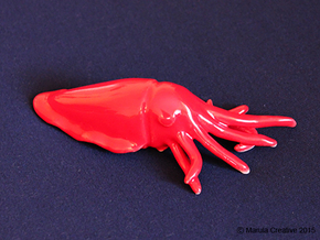 Cuttlefish in Gloss Red Porcelain