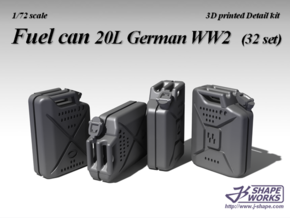 1/72 Fuel Can 20L German WW2 (32 set) in Smoothest Fine Detail Plastic