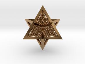 Super Star Tetrahedron (SST) in Polished Brass