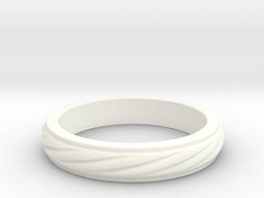 RING PENDANT in White Processed Versatile Plastic