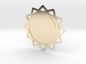 Custom Mandala Pendant 6 in 14K Yellow Gold