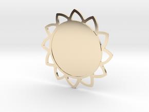 Custom Mandala Pendant Sunflower in 14K Yellow Gold