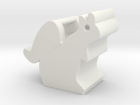 Obie the Oberlin Squirrel in White Natural Versatile Plastic
