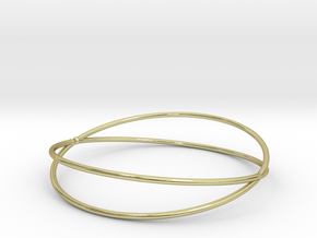 Space Bracelet  Ø64 mm/ Ø2.519 inch medium in 18k Gold Plated Brass