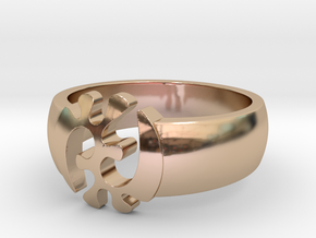 S11: Adinkra Rings - Series 1: GyeNyame in 14k Rose Gold Plated