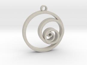 Fibonacci Circles Necklace in Sandstone
