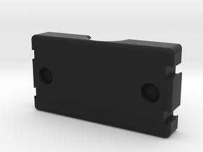 18650 dual Battery Sled W/Magnet Holes in Black Natural Versatile Plastic