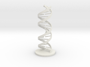 DNA Helix in White Natural Versatile Plastic