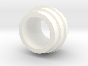 Side Booster ring in White Processed Versatile Plastic