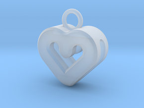Resonant Heart Keychain in Smooth Fine Detail Plastic