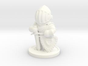 Chibi Knight in White Processed Versatile Plastic