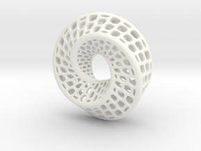 Mobious v2 in White Processed Versatile Plastic
