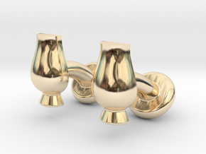 Cufflinks Glencairn Whiskyglass in 14k Gold Plated Brass
