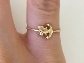 Anchor Bow Ring in 18k Gold Plated Brass: 4.25 / 47.125