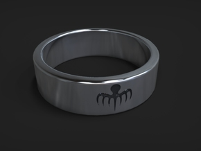 Spectre Ring Size 11 (UK size V 1/2) in Fine Detail Polished Silver
