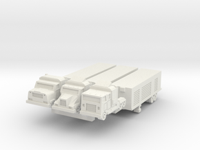 Semi Trucks 3 in White Natural Versatile Plastic