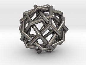 0454 Woven Rhombicuboctahedron (U10) in Polished Nickel Steel