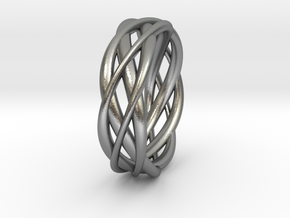 Mobius ring braid  in Natural Silver: 8 / 56.75