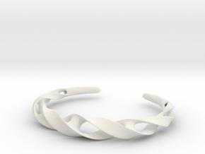 Ribbon Möbius bracelet - Large in White Natural Versatile Plastic