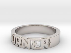 BlakOpal 'Burner' Cutout Band in Rhodium Plated Brass: 11 / 64
