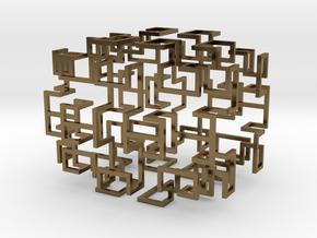 Gosper Pendant Web in Polished Bronze