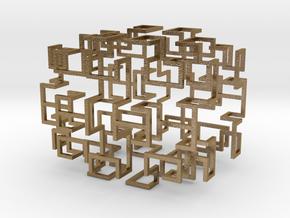 Gosper Pendant Web in Polished Gold Steel