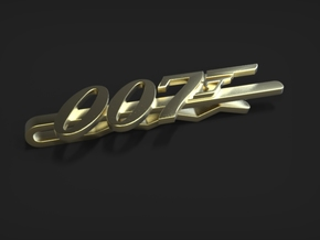 007 Tie Clip in Polished Brass