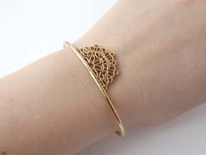 Half Lace Cuff - small in 14k Gold Plated