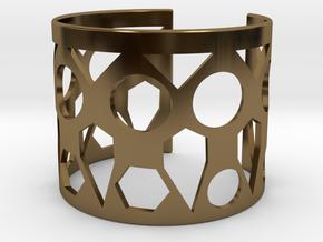 Cubic Bracelet Ø73 Mm Style A/Ø2.874 XL in Polished Bronze